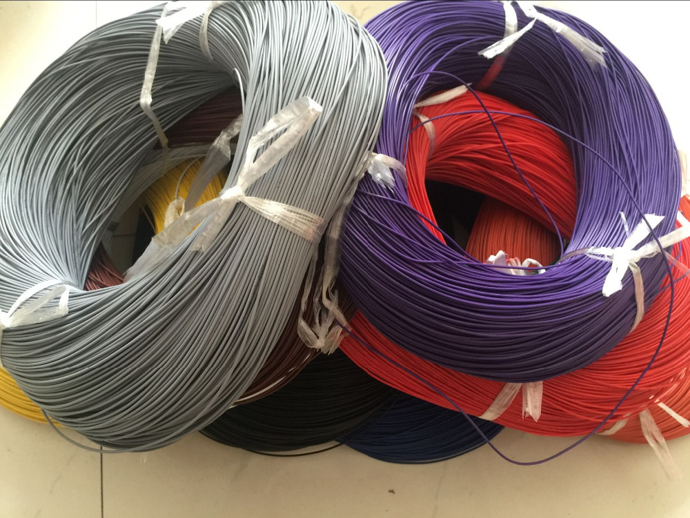 10M 32.8FT 26 AWG Flexible Silicone Wire RC Cable 26AWG 30/0.08TS Outer Diameter 1.5mm Electrical Wire Cable DIY Industry
