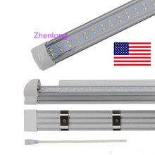 4FT 5FT 6FT 8FT LED T8 Tubes Double Row 8 foot T8 integrated LED Light Bulbs SMD2835 led fluorescent lighting Lamps Fedex ship(China)