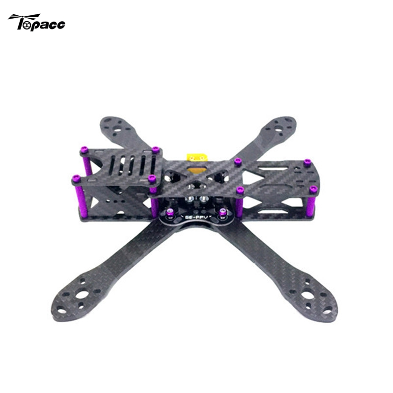 GE-5 210mm 4mm Arm Thickness Carbon Fiber Frame Kit with PDB for FPV Racing for DIY RC Drone FPV Frame Quadcopter Toy Spare Part transtec freedom 215mm 4mm 3k carbon fiber quad frame kit for multirotor fpv rc racing racer frame drone kit quadcopter uav diy