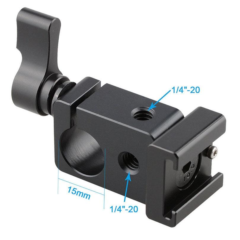 Camvate 15mm ühe vardaga klambri stabilisaatorid koos kuuma külma - Kaamera ja foto - Foto 6