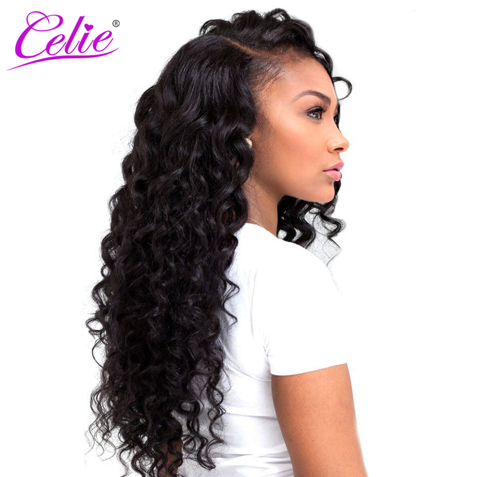 deep wave brazilian hair styles aliexpress buy celie hair hair 2119 | Celie Hair Loose Deep Brazilian Hair Weave Bundles More Wave Natural Black Color Remy Hair Extension
