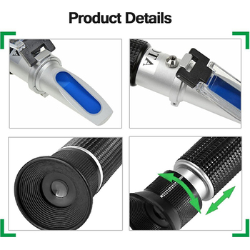 DLKKLB Bee Tools Honey Refractometer 58-90% (Sugar Content) Beekeeping Refractometer Handheld Honey Concentration Meter