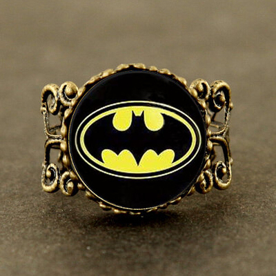 Hero Anime 2015 US Movie Batman Brass ring Women men 1pcs wedding ring free shipping batman Gotham City Dr Who Jewelry The Arrow