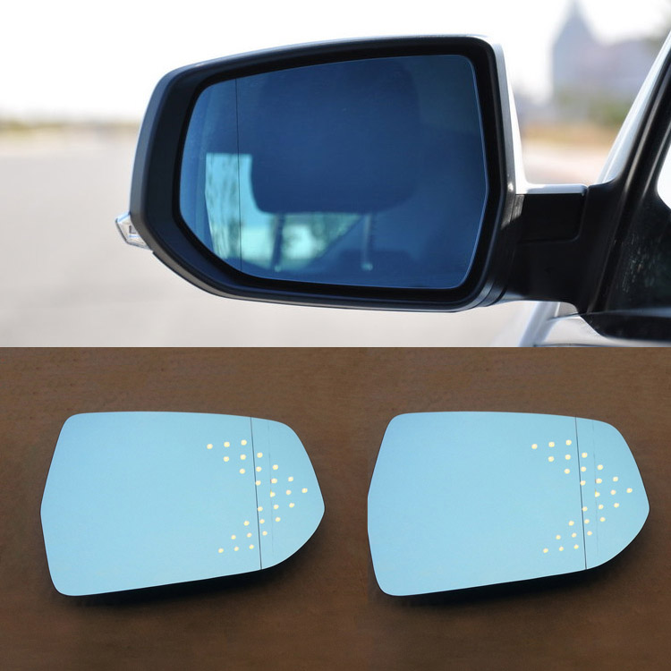 Ipoboo 2pcs New Power Heated w/Turn Signal Side View Mirror Blue Glasses For Chevrolet Malibu