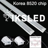 50pcs/100pcs 50cm led rigid strip light 8520 36leds led hard strip 12V + U groove + pc milky/clear cover
