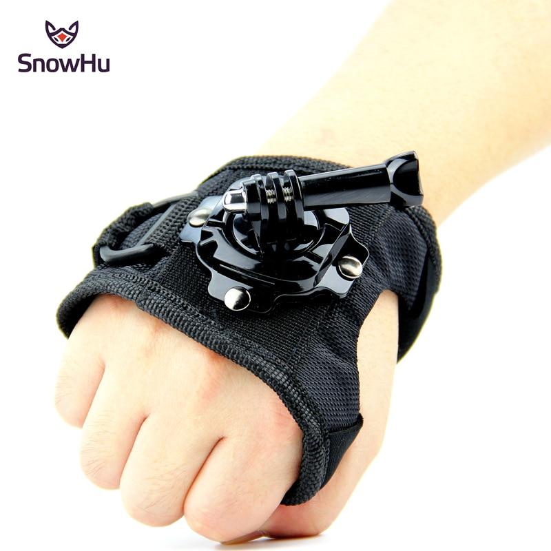 Glove Wrist Band 360 Degree Swivel Rotation Hand Strap Belt Tripod Mount For GoPro Hero 5/4/3+ For Go Pro SJCAM SJ4000 GP127L fat cat m hr 360 rotation helmet mount w 3m sticker for gopro hero 4 3 3 2 1 sj4000