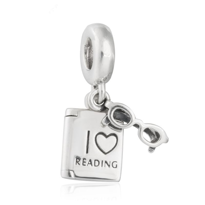 2017 New I Love Reading Hanging Charms 925 Sterling Silver