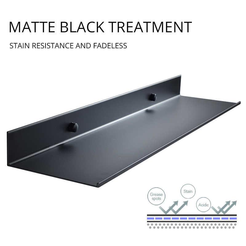 الجملة تعزيز اكسسوارات الحمام 30-60 سنتيمتر الحديثة مات الأسود رفوف الحمام رف جدار المطبخ دش حمام تخزين الرف