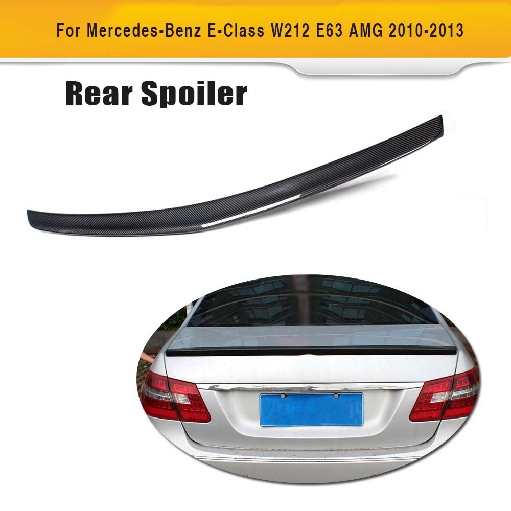 A Styling Carbon Fiber Car Rear Spoiler Trunk Boot Lip Wing for Mercedes Benz W212 Spoiler E Class E200 E260 E300 E63 2010-2013 yandex mercedes x156 bumper canards carbon fiber splitter lip for benz gla class x156 with amg package 2015 present