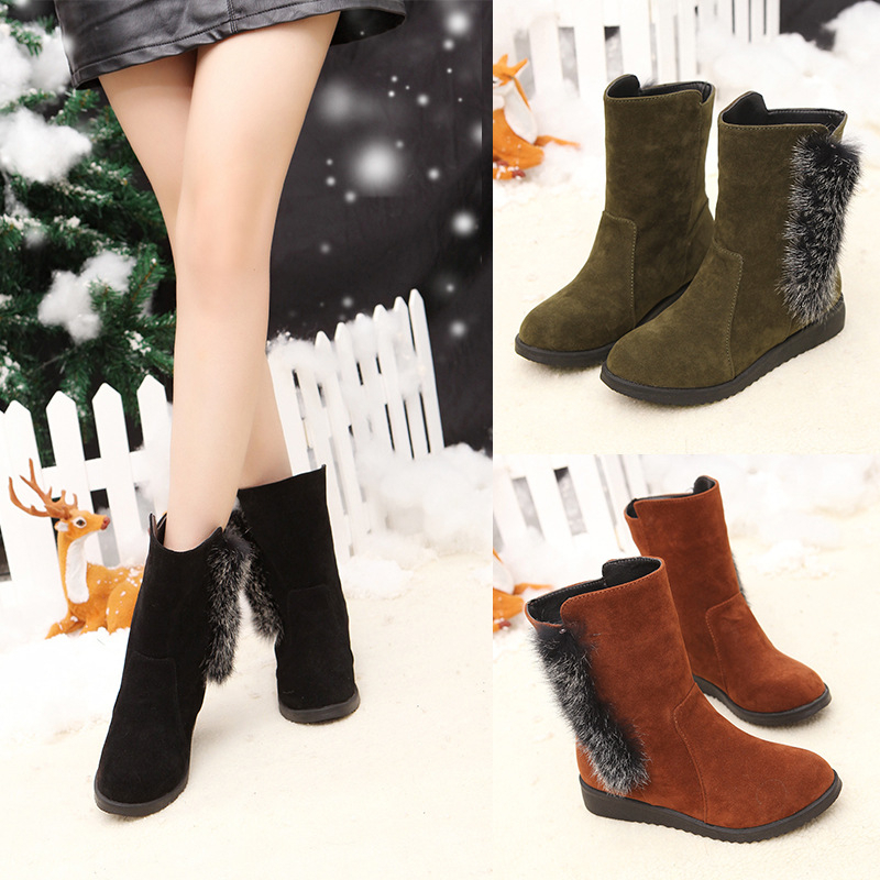 Snow Hairy Wedges Trade 35 Female Boots Large Yards Foreign 44 Size TxOxn4Yqw0