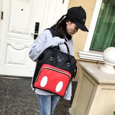 Mickey Mouse Mummy Maternity Nappy Bags Multifunctional Baby Products Storage Bag Travel Portable Baby Care Backpack
