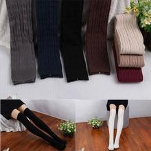 1 Pair Women s Fashion Over Knee socks Stockings Thigh Pantyhose 8 Colors 55 cm long