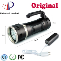 Newest Stepless Dimming 4000LM Zoom In LED Diving Flashlight DT6 4*Cree LED Portable Powerbank USB Rechargeable Flashlight