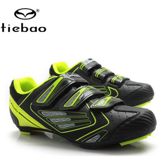 Sapatilha Ciclismo TIEBAO Sapatos de Ciclismo Sapatos de Bicicleta de Estrada 2017 zapatillas deportivas mujer feminino sapato dos homens das sapatilhas das mulheres