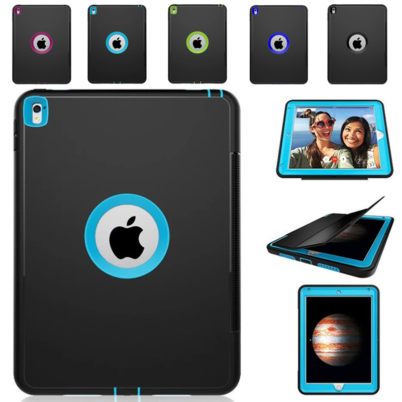 For Apple iPad Pro 9.7 Retina Kids Safe Armor Shockproof Heavy Duty Silicone Hard Case Cover For iPad Pro 9.7 Case