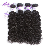 Malaysian Water Wave Hair Bundles 8 28 inch 100% Alidoremi Human Hair Weave Remy Hair Natural Color Can Buy 1/3/4 pcs