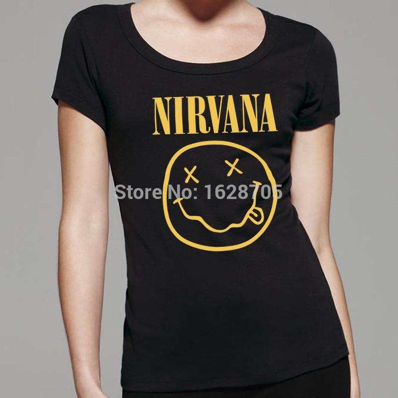 Logo Con Camiseta Para Mujer Nirvana nEqYZxRwBn