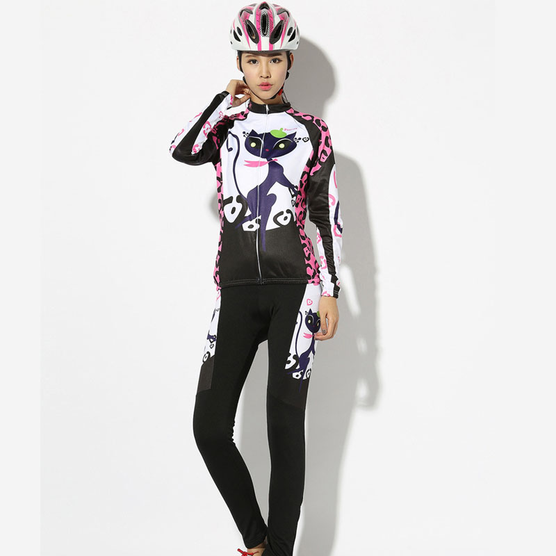 BATFOX Women Cycling Jersey set breathable Bicycle Clothing for women Long Sleeve road Mountain Bike Shirts Ciclismo Jersey
