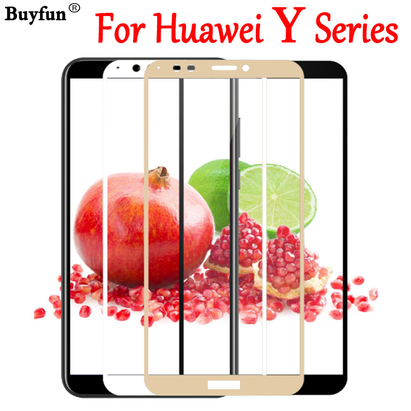 <font><b>Protective</b></font> <font><b>Glass</b></font> For <font><b>Huawei</b></font> Y7 Y3 Y5 <font><b>Y6</b></font> Y9 Y 3 5 6 7 9 Prime 2017 <font><b>2018</b></font> Tempered Glas Protect Film Protection 9H Screen Protector image