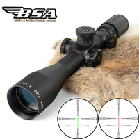 Tactical Hunting Shooting Riflescope BSA TMD 4 14X44E First Focal Plane Optical Sight Red Green Illuminated