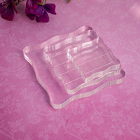 Acrylic Clear Stamp Grid Blocks Pad DIY Scrapbooking Transparent Silicone Stampers Seal Sheets Helper Tool