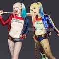 Comando suicida Harley Quinn Traje de Cosplay Conjunto Completo Harley Quinn Traje De Fantasía de Halloween Cosplay Ropa de Adultos de Las Mujeres Por Encargo