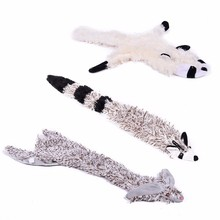 Pet Dog Toys With Sound Squirrel Cute Shape Animal Toys Cloth Safety Material Squeak Toys