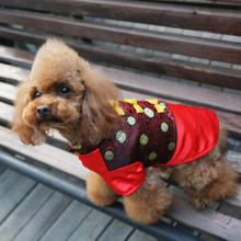 New Pet Costume Dress Dog Tang Suit Dog Cotton Clothes For Puppy and Big dog,Free Shipping!