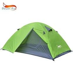 Tienda de mochilero Desert & Fox, tienda de Camping ligera con poste de aluminio para 2 personas, bolso portátil de doble capa para senderismo, Viajes