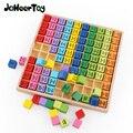 モンテッソーリ教育木のおもちゃベビーおもちゃ 99 乗算表数学算術教材子供のための