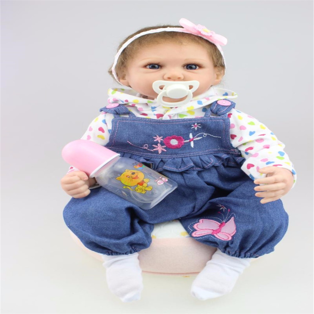 22inch 55cm Silicone baby reborn dolls, lifelike doll reborn babies toys for girl princess gift brinquedos  Children's toys!