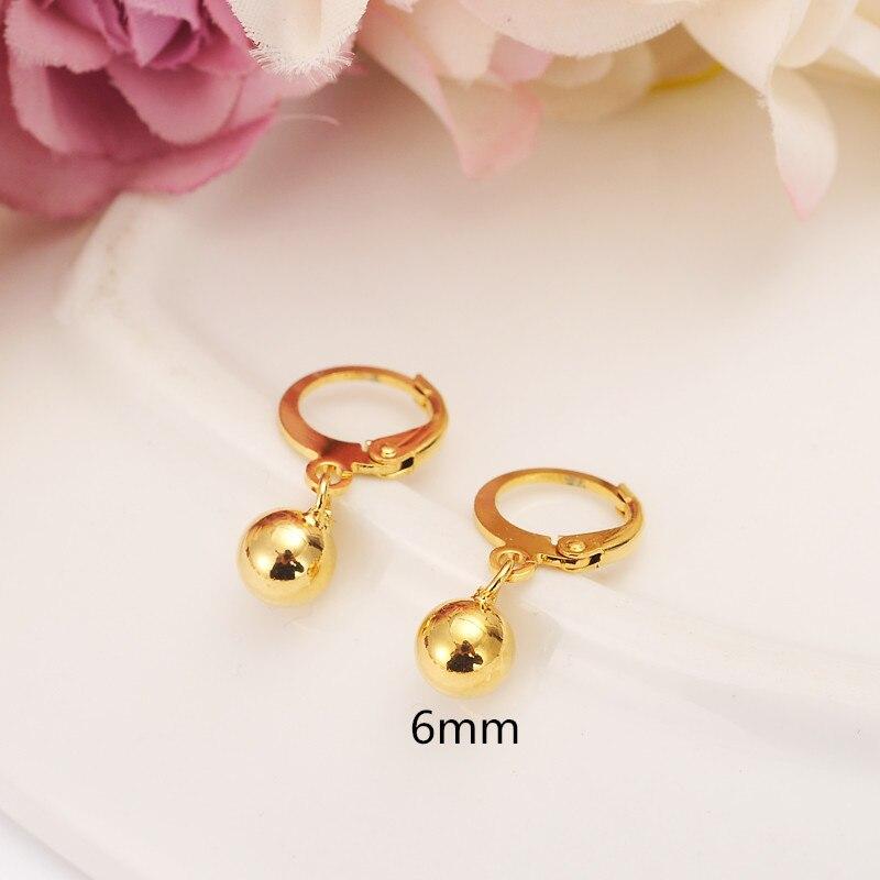 Gold Ball Beads Drop  Earrings Women/Girl,Love Trendy  Fashion Jewelry For African/Arab/Middle Eastern Kids Children Best Gift