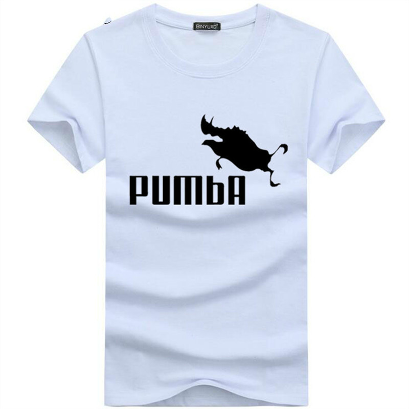 2019 Funny Tee Cute   T     Shirts   Homme Pumba Men Short Sleeves Cotton Tops Cool   T     Shirt   Summer Jersey Costume Fashion   T  -  shirt   RS-435