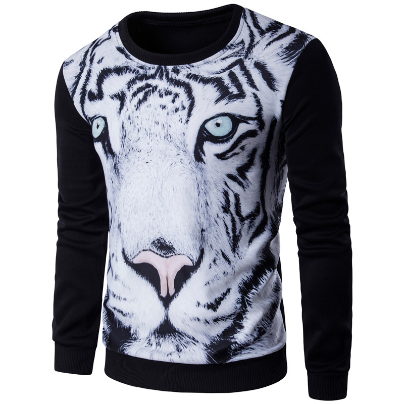 New Men/women's 3D graphic Harajuku style sweatshirts funny print tiger pizza lion novelty crewneck sweat shirts pullover hoodie