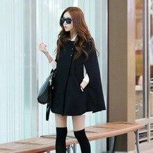 New Hot Women Lady Cloak Poncho Coat Loose Fashion Outwear Medium Length Clothing For Winter YAA99