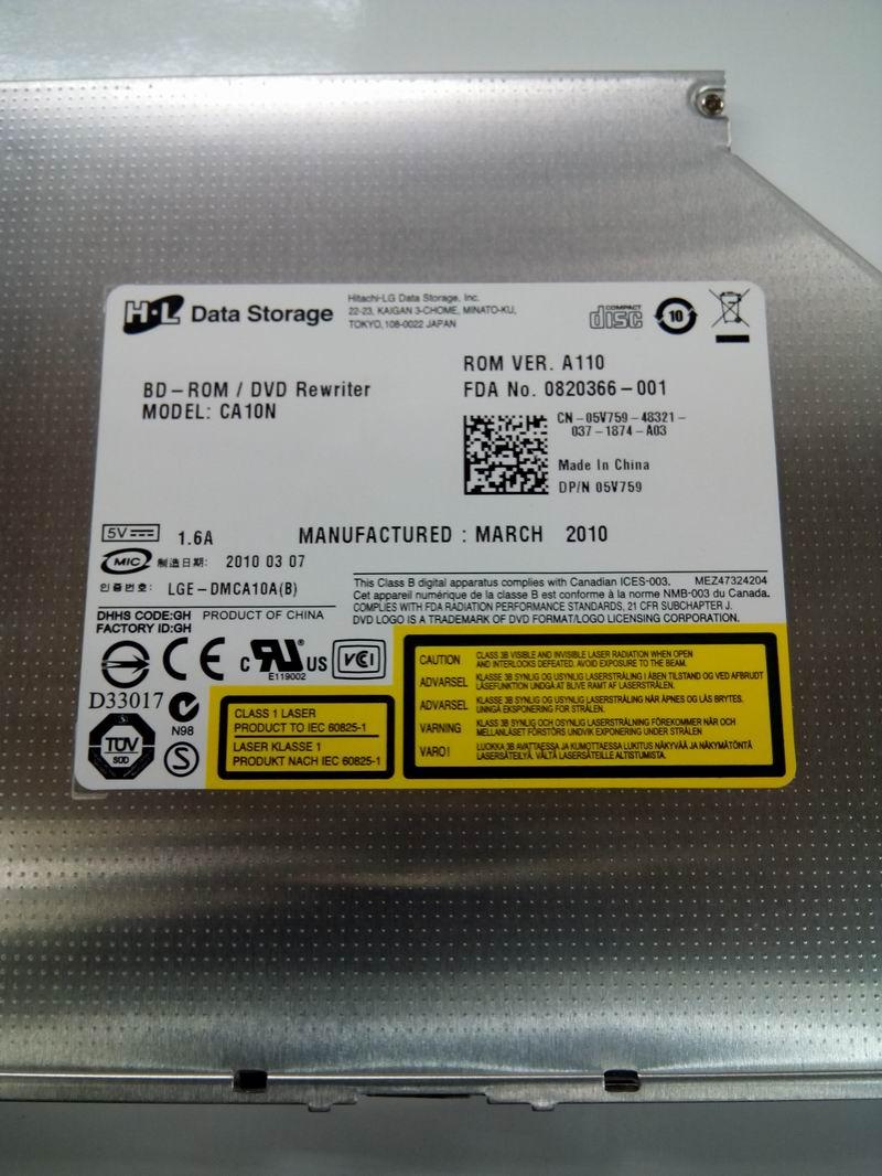 FREE SHIPPING LG HL CA10N Blu-ray Player BD-ROM Combo Speler Players 8X DVD RW DL Burner Laptop Slot-in 12.7mm SATA Drive NEW