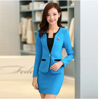 women office skirt suit  with Skirt and Jacket Sets Ladies Office Suits Work women office uniform  for Beauty Salon plus size