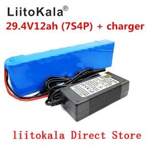 Image 1 - LiitoKala 7S4P 24 V 12ah lithium batterie pack batterien für elektrische motor fahrrad ebike roller rollstuhl abschneider mit BMS