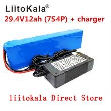 Liitokala 7s4p 24 v 12ah bateria de lítio baterias para motor elétrico bicicleta scooter ebike cadeira de rodas cropper com bms