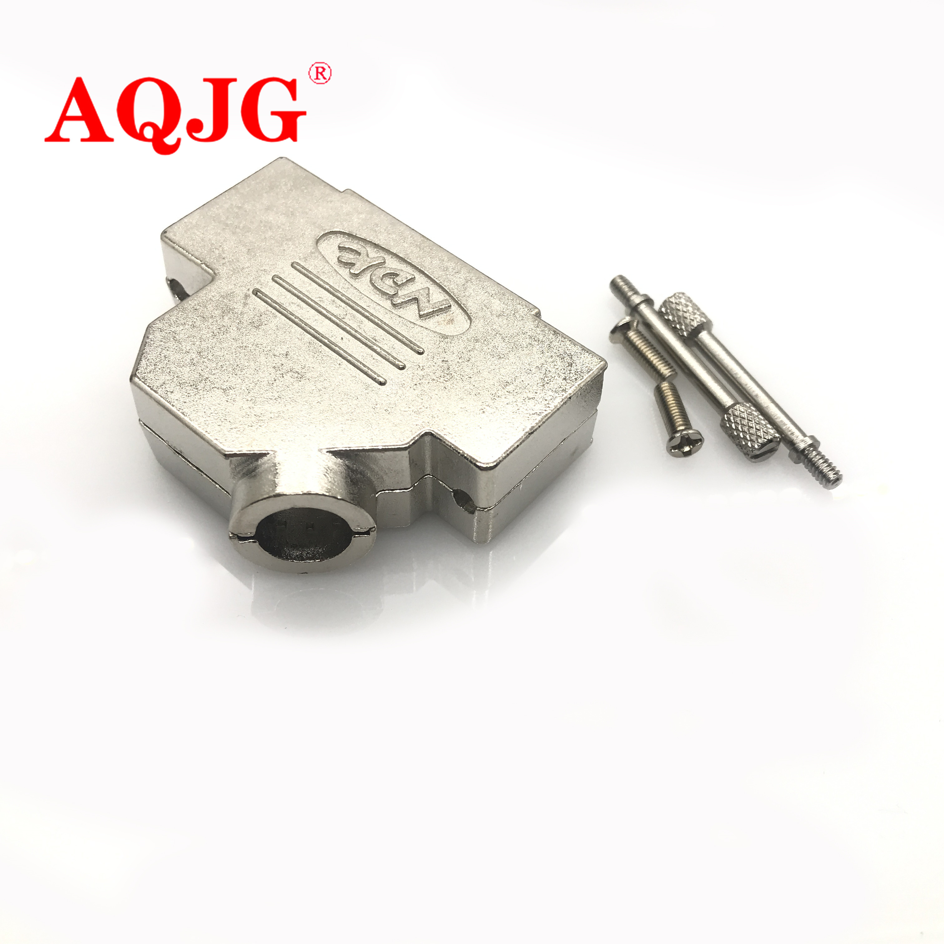 Connector D SUB DB25 25pin M F Socket Metal COVER HOOD SHELL SCREW DIY cable AMP