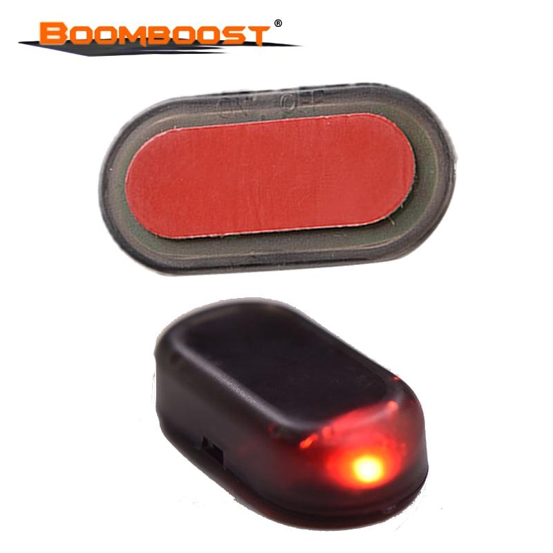 2016 nouveau solaire clignotant lampe stroboscopique antivol voiture LED alarme sécurité rouge lumière voiture tableau de bord, livraison gratuite