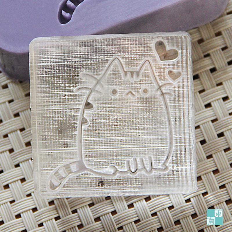 Nicole Handmade Cute Cat Soap Stamp DIY Patterns Acrylic Seal Mold Chapter Organic Glass 0176 Custom In Cake Molds From Home