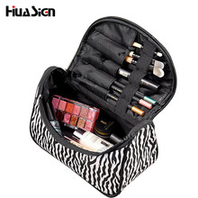 Hot seller!Multifunctional Portable Waterproof Women Makeup Bag Storage Organizer Box Beauty Case Travel Pouch Zebra