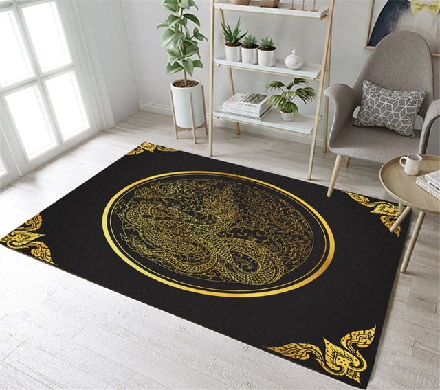 Aliexpress Com Buy Chinese Style Black Background Golden Dragon