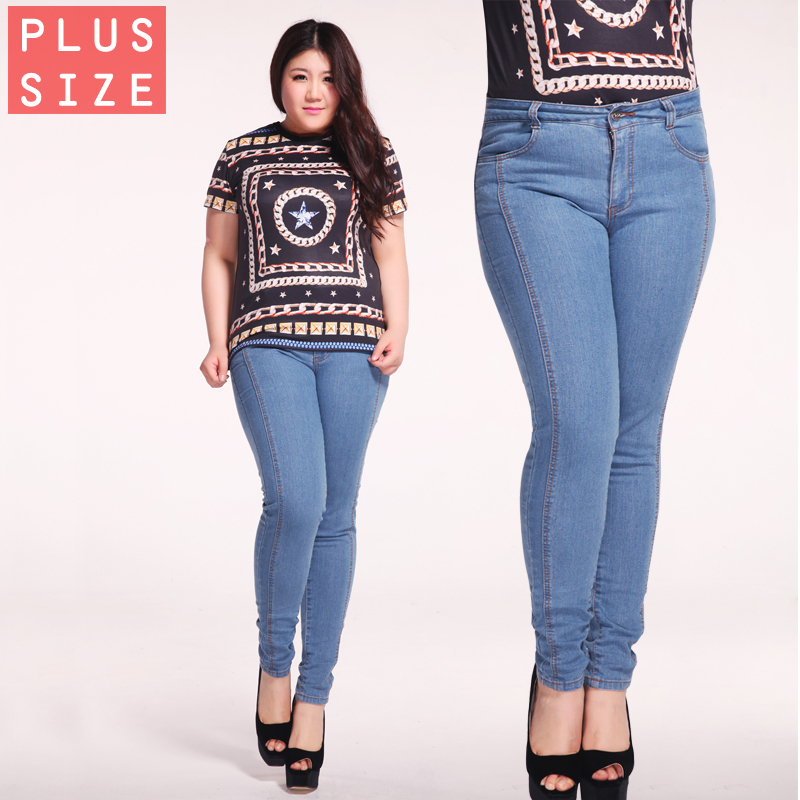 Free shipping 2015 skinny jeans woman blue bootcut jeans plus size ...