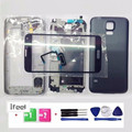 Full Housing Case + Front Glass Lens For Samsung Galaxy S5 SV I9600 G900 +Tools