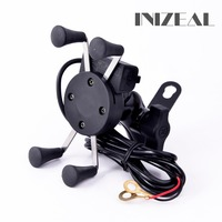 Universal Chargeable Motorcycle Phone Holder Phone Stand Support for iPhone7 GPS Holder Phone USB Charger Support Telephone Moto