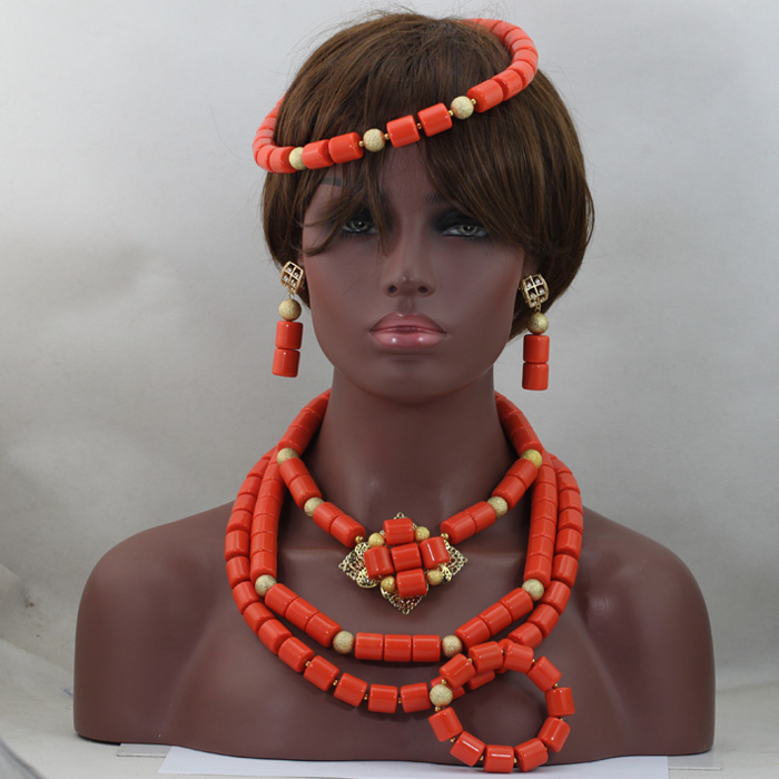 Luxury Stunning! Native American Style Coral Beads Necklace Set Lovely Necklace Accessories Fashion African Jewelry Set ABL913 баффи санти мари buffy sainte marie native north american child an odyssey