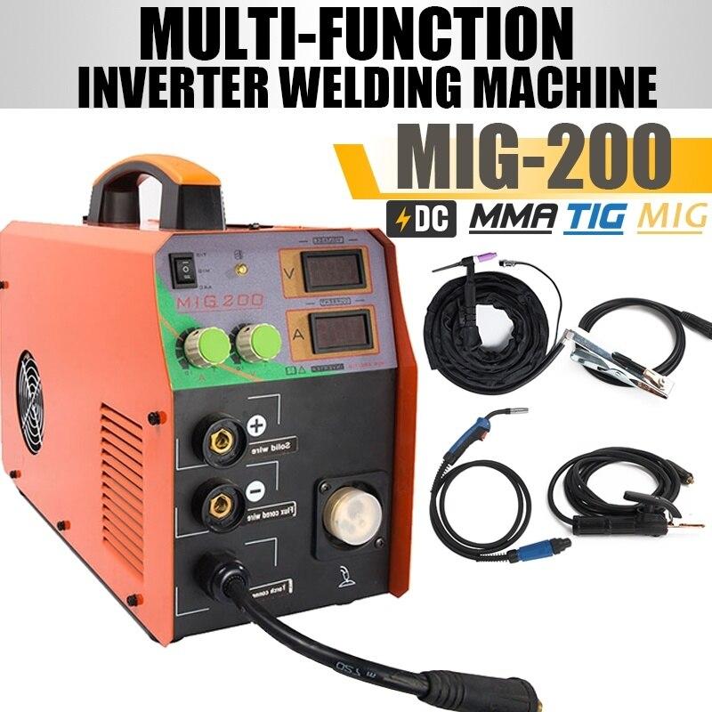 MIG 200 220V Multifunction MMA ARC IGBT Welding Machine DC Inverter 3 In 1 Welder Free