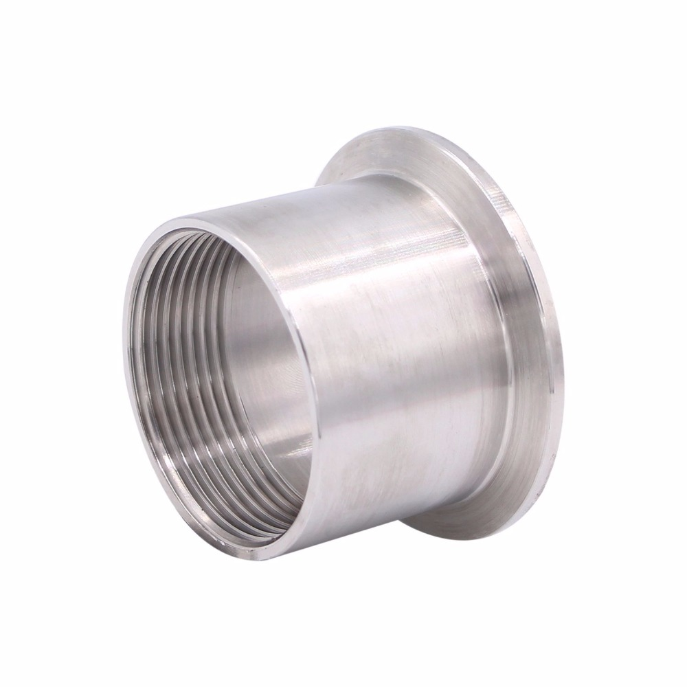 Female Threaded Pipe Size:1-1//2 Inch DN40 Tri-Clover Clamp SUS304 Tri-clamp DERNORD 2 Pcs Sanitary Female Threaded Ferrule Pipe Fittings + Slicone Gasket